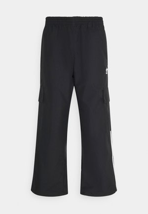 3-STRIPES - Cargo trousers - black
