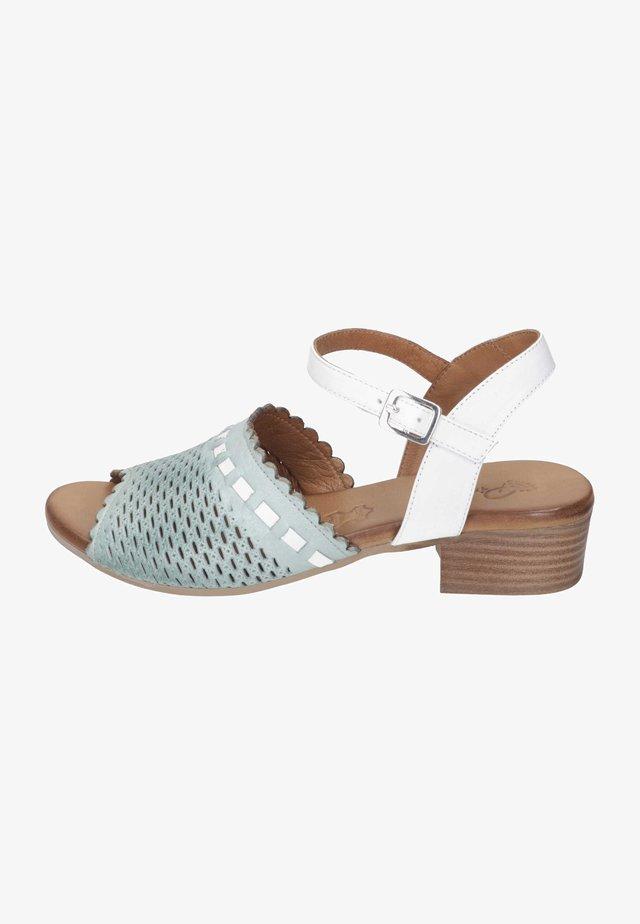 Sandals - aqua/weiß/sand