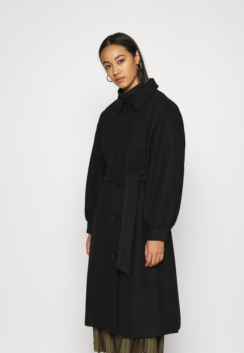 Monki - ROSIE COAT - Kåpe / frakk - black dark