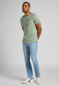 Lee - RIDER - Slim fit jeans - bleached cody - 1