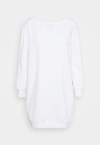 SWEAT Off shoulder mini dress - Vestito estivo - white