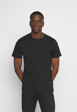 MINI NECK LOGO - T-shirt - bas - black