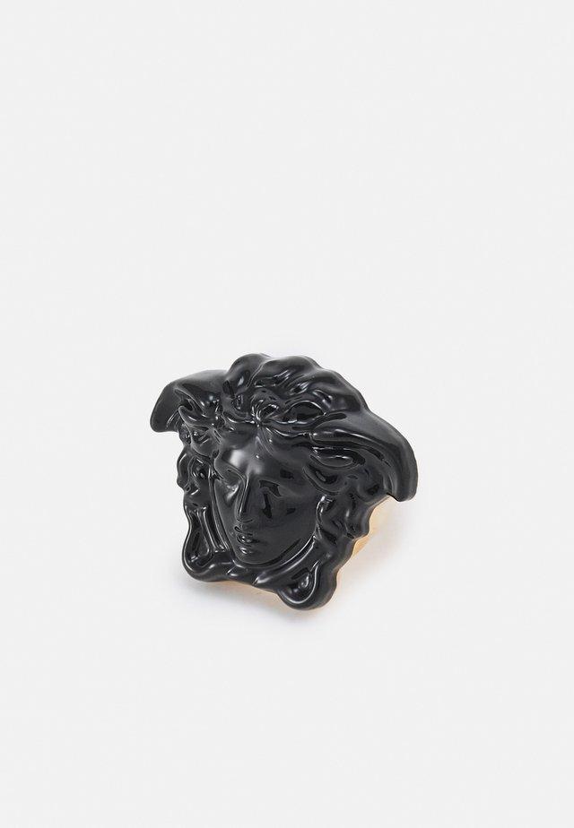 MEDUSA VERNICIATO - Prsten - black/gold-coloured