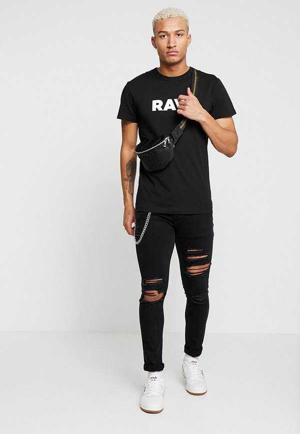G-Star HOLORN - T-shirt z nadrukiem - black/czarny Odzież Męska DVUR