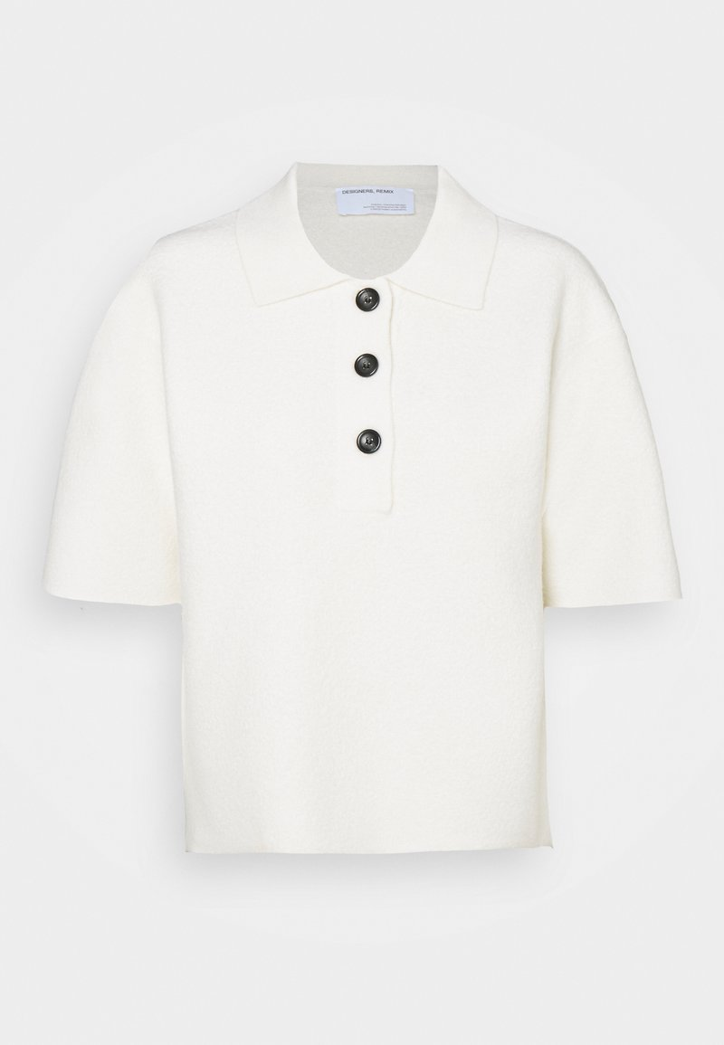 DESIGNERS REMIX - LUCCA BLOUSE - Polo shirt - cream