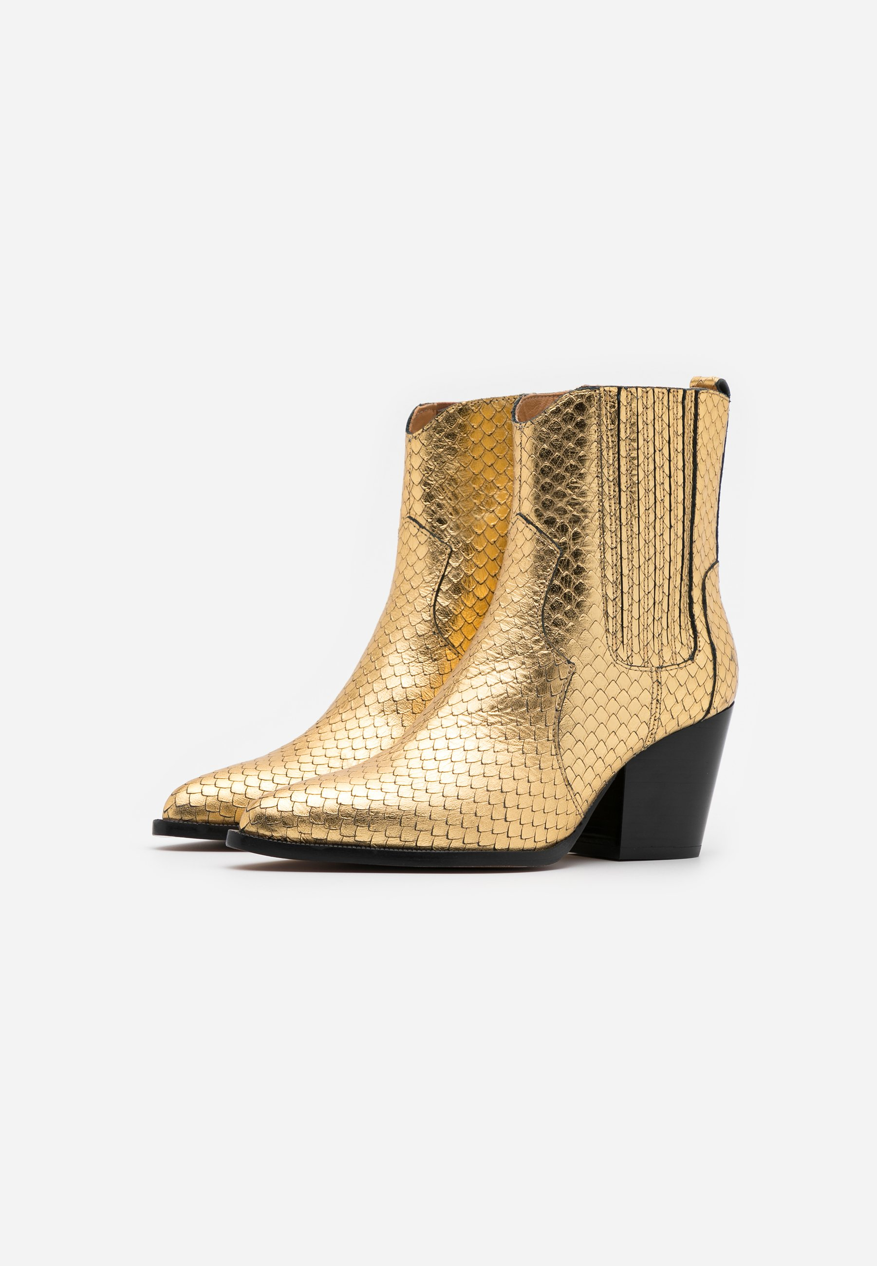 2013 Cheapest Toral Cowboy/biker ankle boot - roy vacuno gold | women's shoes 2020 N336d