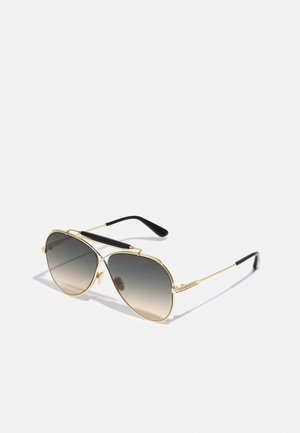 UNISEX - Sunglasses - shiny deep gold-coloured/gradient smoke