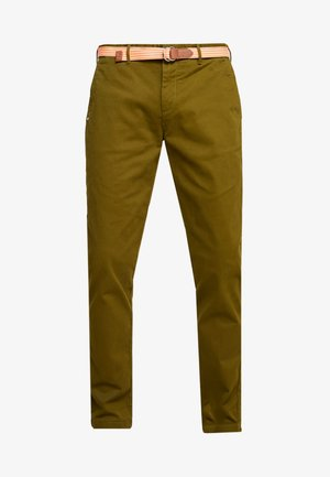 STRETCH STUART WITH BELT - Trousers - military green