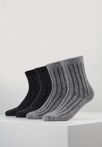 s.Oliver - UNISEX FASHION HYGGE 4 PACK - Socks - anthracite - 0