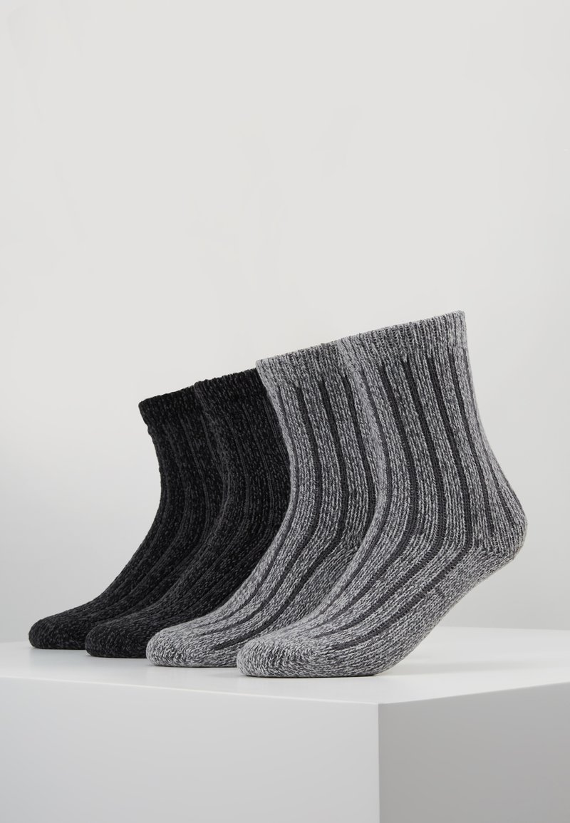 s.Oliver - UNISEX FASHION HYGGE 4 PACK - Socks - anthracite