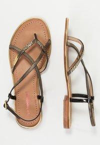 Les Tropéziennes par M Belarbi - MONACO - T-bar sandals - black/gold - 3