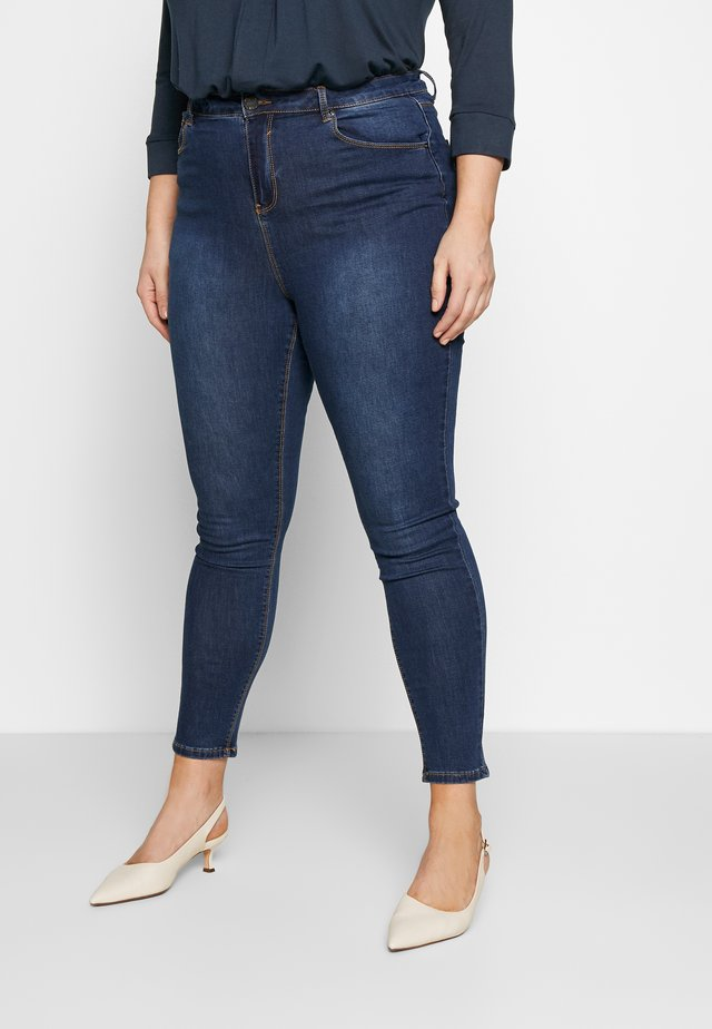 HIGH WAIST - Jeans Skinny Fit - rich indigo