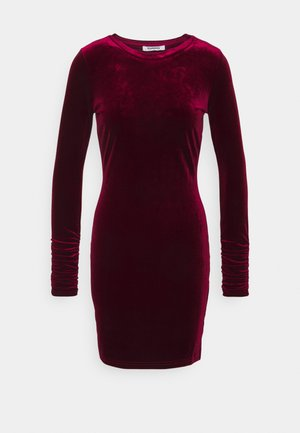 FRIDAY LONG SLEEVE DRESS - Shift dress - burgundy