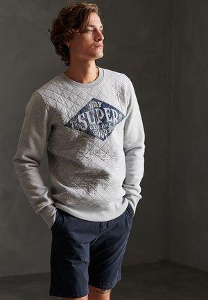 SUPERDRY WORKWEAR QUILTED CREW SWEATSHIRT - Sweatshirt - grey marl