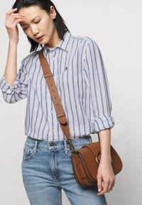 Polo Ralph Lauren - STRIPE LONG SLEEVE - Button-down blouse - white/blue - 3