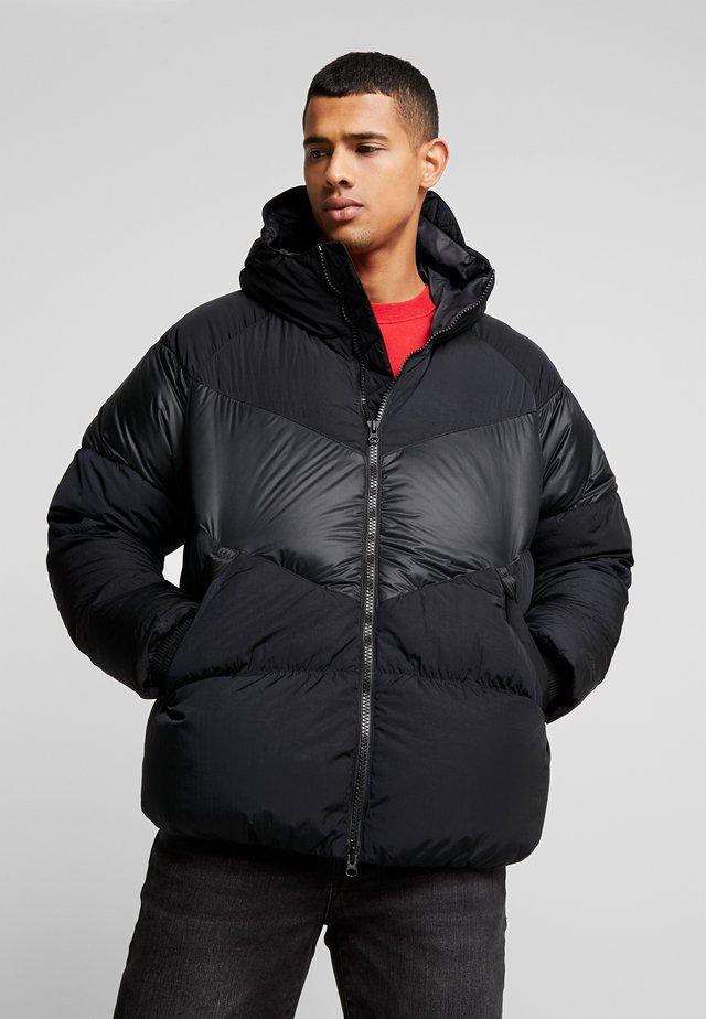 Gewatteerde jas - black/black