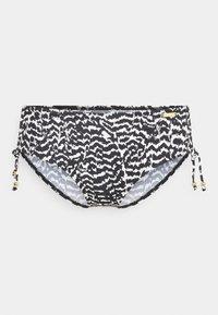 LASCANA - PANTS GATHERED - Bikini bottoms - black/creme - 0