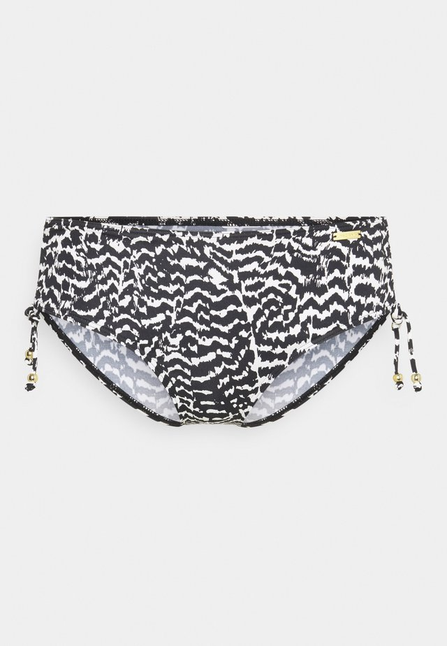 PANTS GATHERED - Bikini bottoms - black/creme