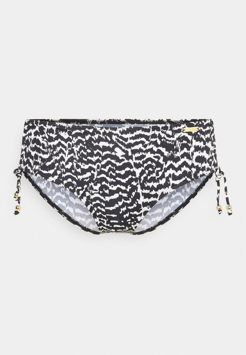 LASCANA - PANTS GATHERED - Bikini bottoms - black/creme