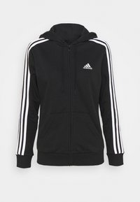 adidas Performance - veste en sweat zippée - black/white - 4