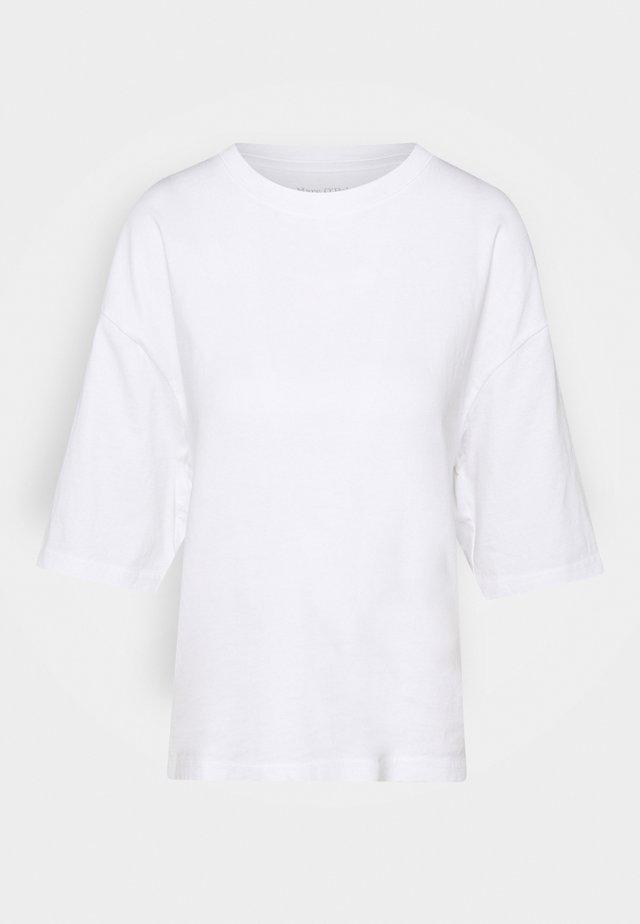 ROUND NECK CROPPED - Jednoduché triko - white