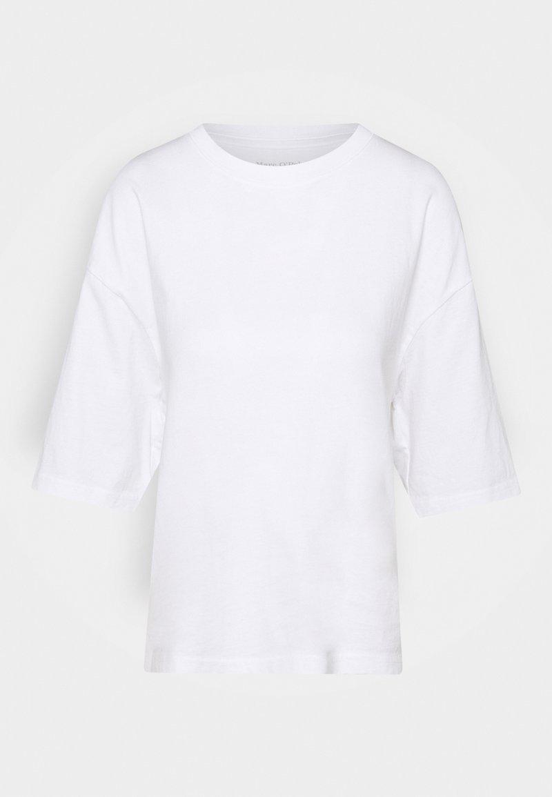 Marc O'Polo - ROUND NECK CROPPED - Basic T-shirt - white