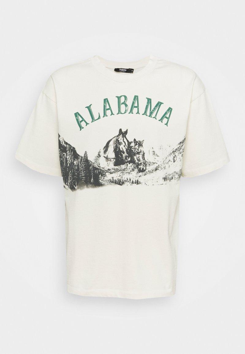 Jaded London - ALABAMA HORSE - T-shirt imprimé - white
