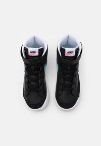 Nike Sportswear - BLAZER MID '77 UNISEX - High-top trainers - black/glacier ice/white/pink glow - 3