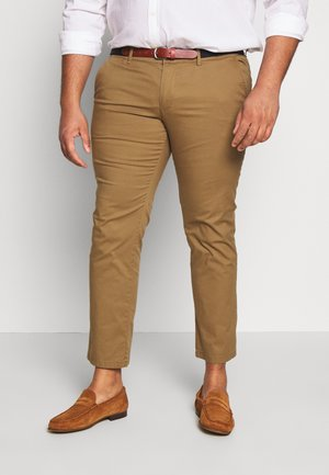 SLHSLIM YARD PANTS - Chinos - dark camel