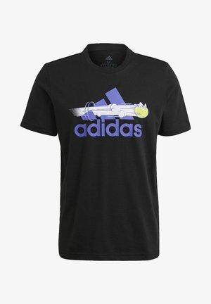 M SS CAT TEE - T-shirt z nadrukiem - black