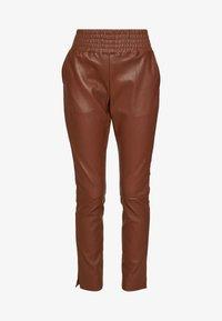 Ibana - COLETTE - Pantalon en cuir - brown - 4