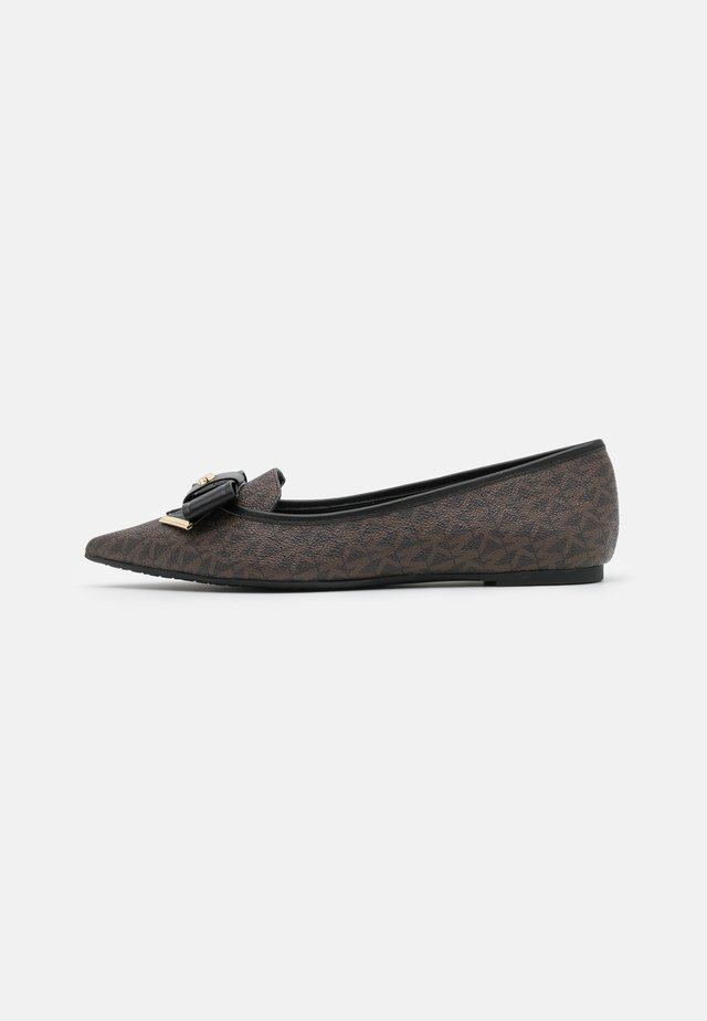 BELLE FLAT - Klassischer  Ballerina - brown/black