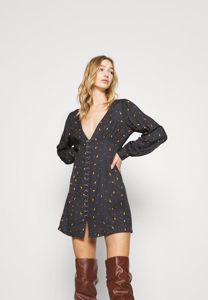 Milk it - MYSTICAL DRESS RUCHED BUST & HOOK ANDEYE DETAILING - Day dress - black