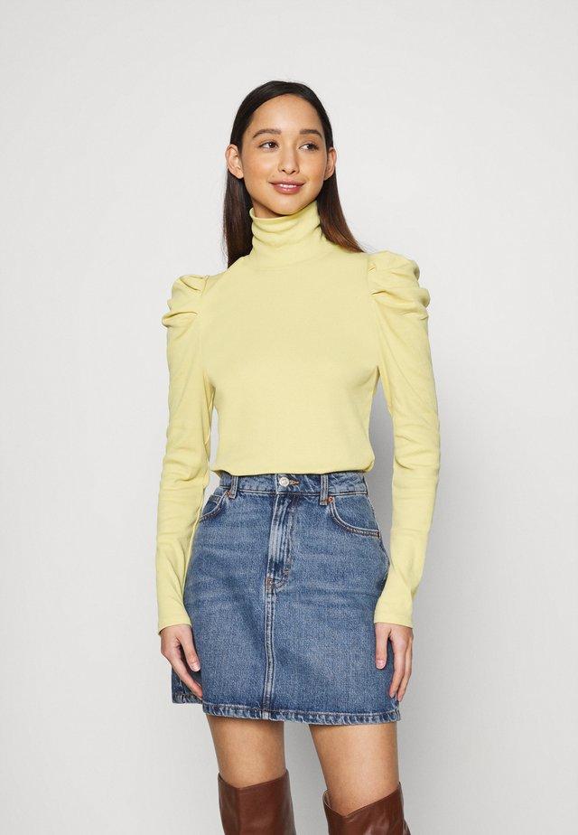 RONJA - Maglietta a manica lunga - yellow dusty light