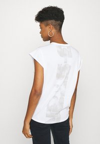 G-Star - GSRAW GYRE KNOT CAP - Print T-shirt - white - 2