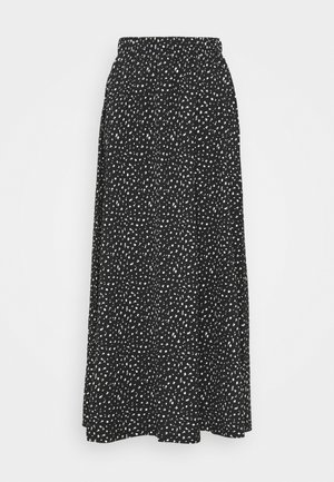 ONLZILLE MAXI SKIRT - Jupe longue - black/white