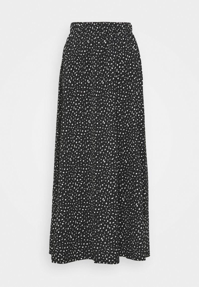 ONLY Tall - ONLZILLE MAXI SKIRT - Maxi skirt - black/white