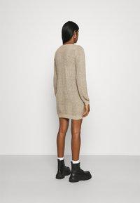 JDY - JDYWHITNEY MEGAN BOAT DRESS - Jumper dress - beige - 2