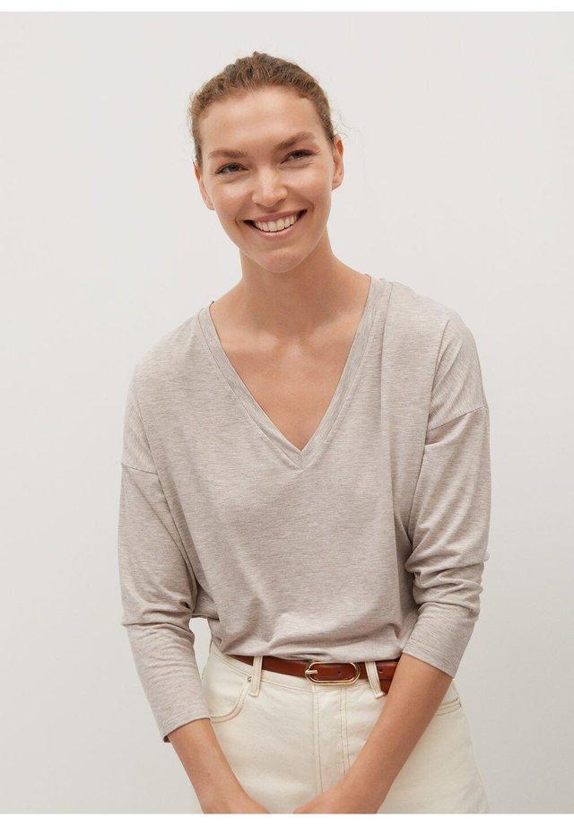 PIKEA - Maglietta a manica lunga - open beige