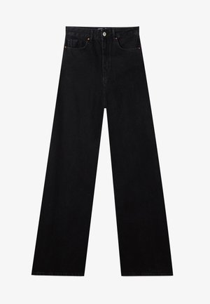 MIT EXTRA WEITEM BEIN - Flared jeans - black