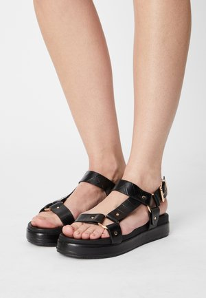 LUSSO - Platform sandals - black