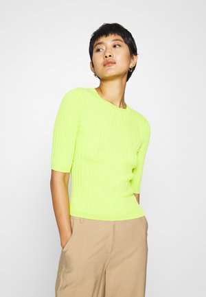 CREW NECK  - Print T-shirt - acid lime