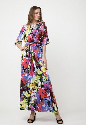 EVRIKA - Maxi dress - lila, hellgrün