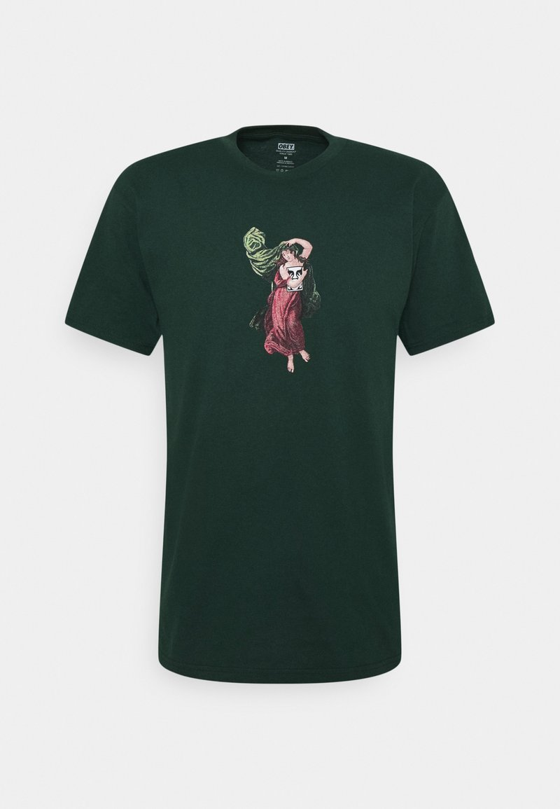 Obey Clothing - BEAST OF BURDEN - Print T-shirt - forest green