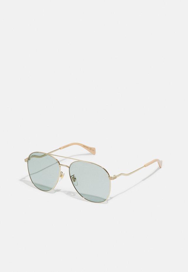Gafas de sol - gold-coloured/blue