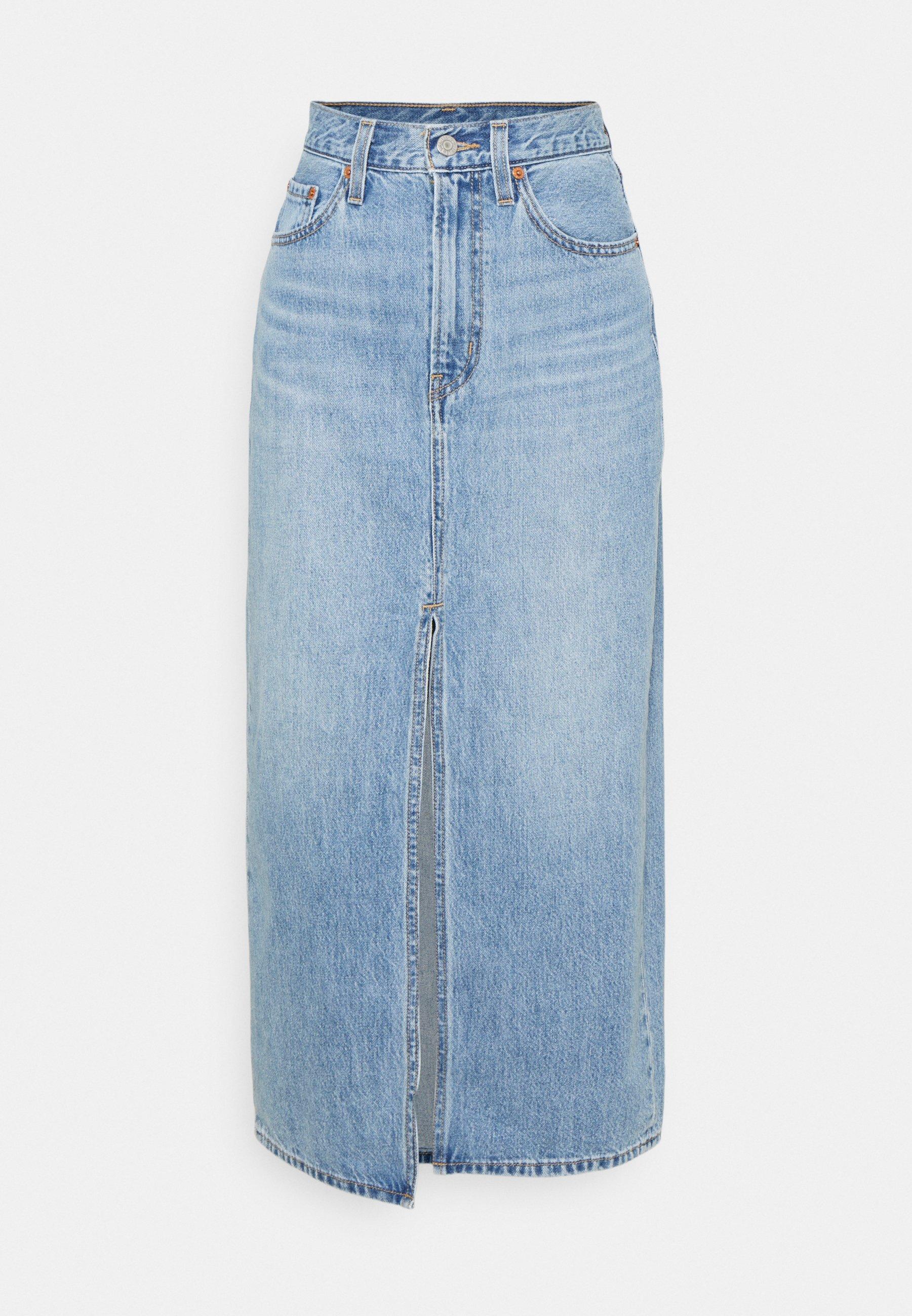 Women SLIT FRONT SKIRT - Denim skirt