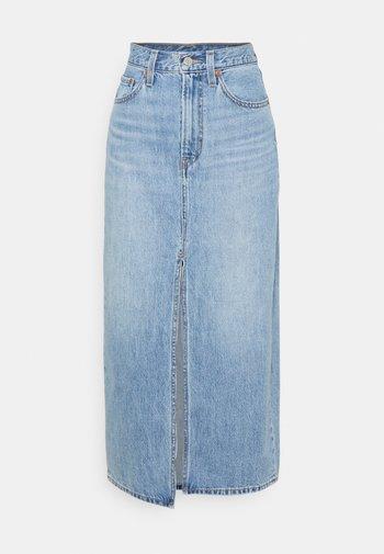 SLIT FRONT SKIRT - Denim skirt - absolutely fabulous