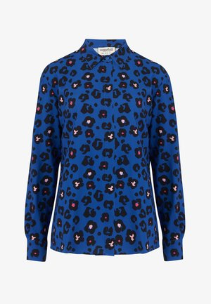 JOY ANIMAL FLORAL - Button-down blouse - blue