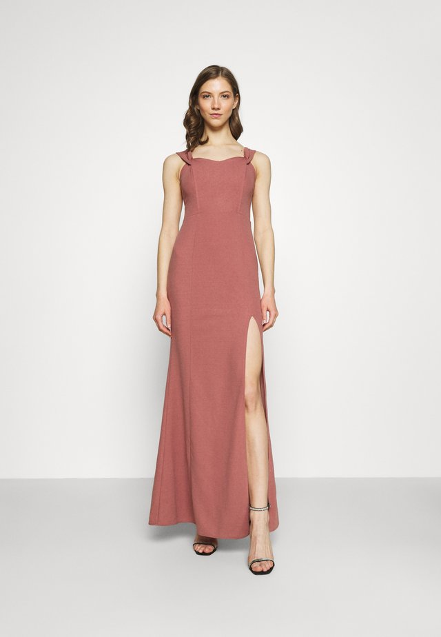 MY DEAREST OFF SHOULDER GOWN - Vestido de fiesta - dark rose