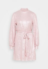 Nly by Nelly - HIGH NECK SEQUIN DRESS - Cocktailkjole - light pink - 5